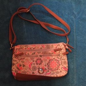 Stone Mountain quilted cloth crossbody bag